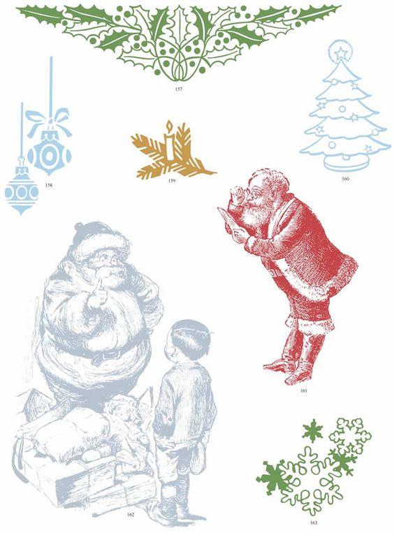 Christmas Vector Motifs Dover Publications.