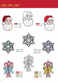 Christmas Clip Art for Machine Embroidery by Alan Weller.