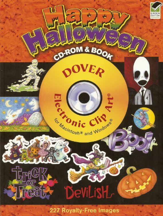 Happy Halloween CD ROM And Book Dover Susan Brack CLIP Art.