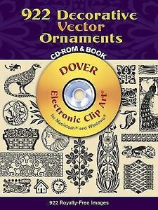 Details about 922 Decorative Vector Ornaments CD.