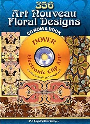 356 Art Nouveau Floral Designs (Dover Electronic Clip Art.