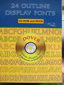 Details about 24 Outline Display Fonts CD.