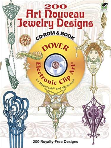 Buy 200 Art Nouveau Jewelry Designs (Dover Electronic Clip.
