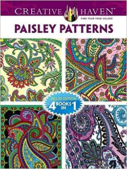 Dover Publications Book, Creative Haven Paisley Pattern (Creative.