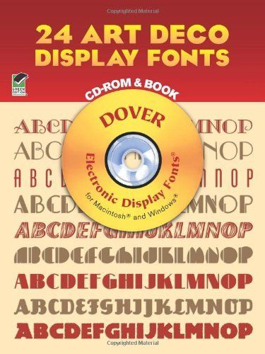 Dover Electronic Clip Art: 24 Art Deco Display Fonts by Dover Staff and Dan  X. Solo (2012, Paperback).