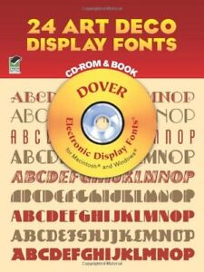 Details about 24 Art Deco Display Fonts (Dover Electronic Clip Art) by  Solo, Dan X. Paperback.