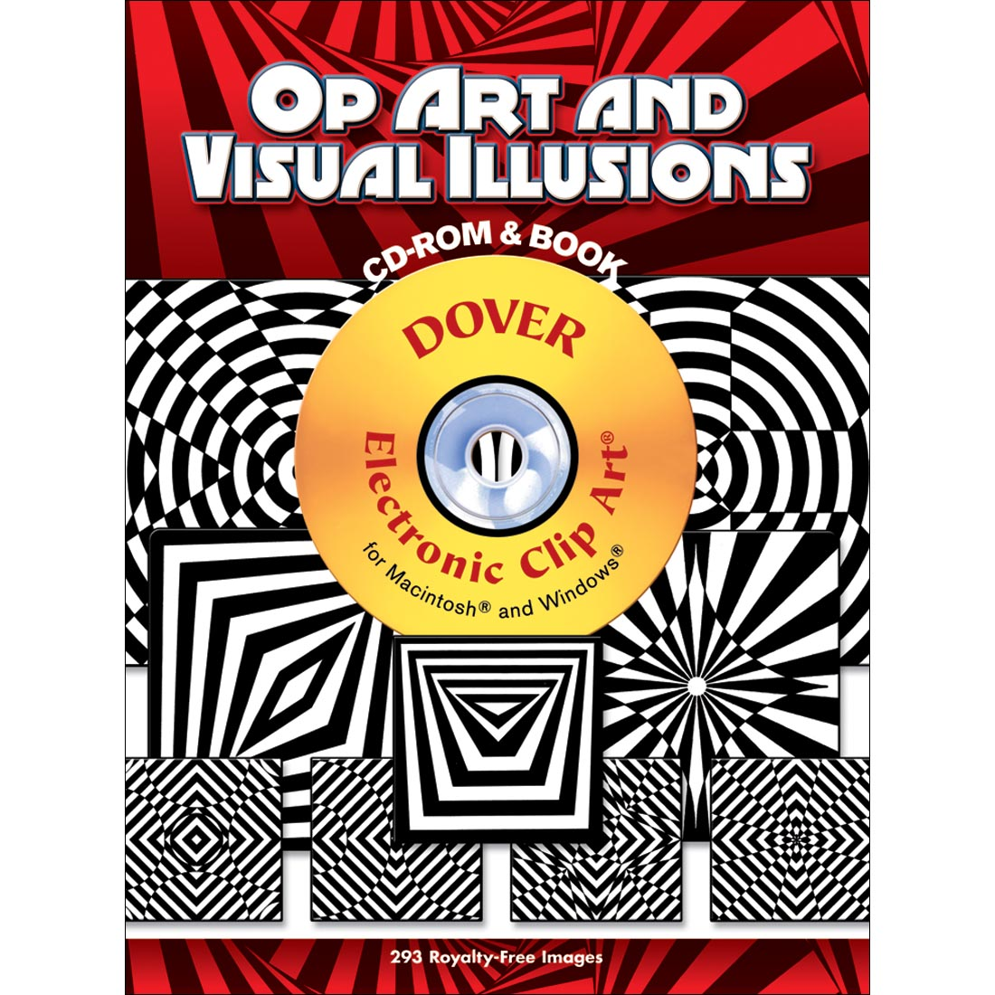 Op Art & Visual Illusions Electronic Clip Art by Dover.