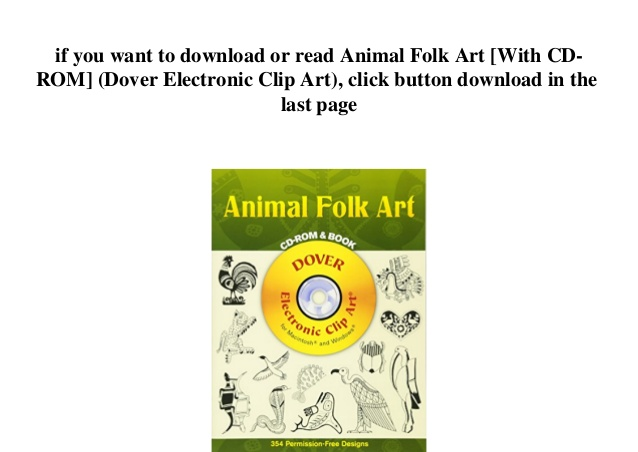Free] download^ animal folk art [with cd rom] (dover.