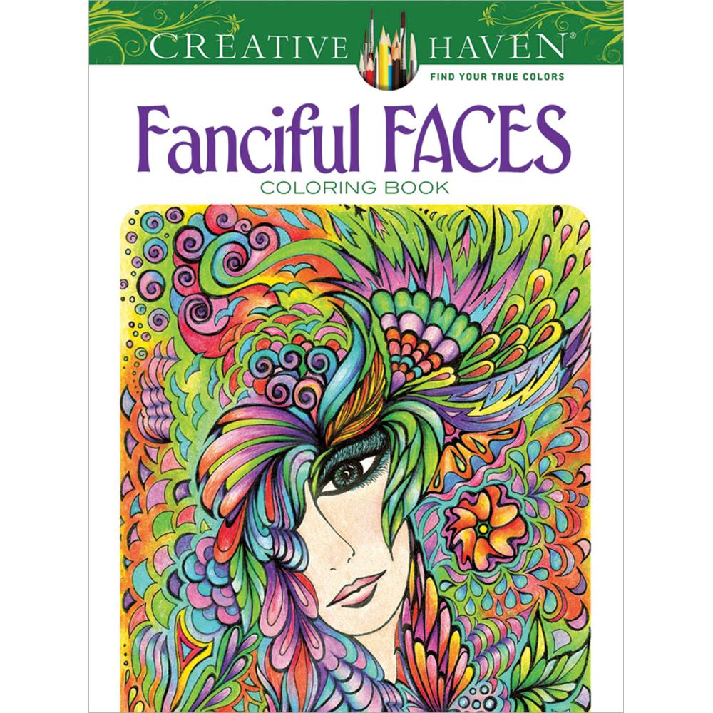 Dover Publications Creative Haven Fanciful Faces.