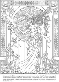 Art Nouveau Windows Stained Glass Coloring Book Dover Publications.