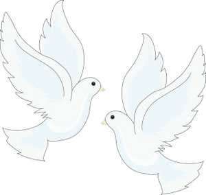 Two Doves Clipart.