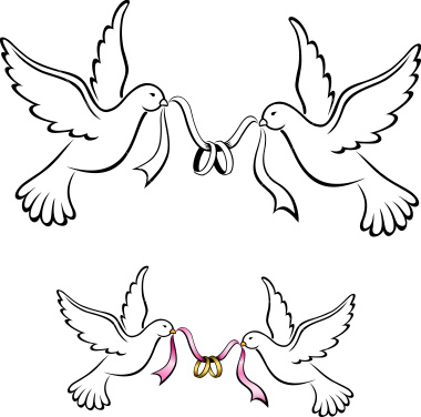 Wedding Doves Clipart.