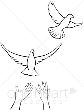 Releasing Doves Clipart.