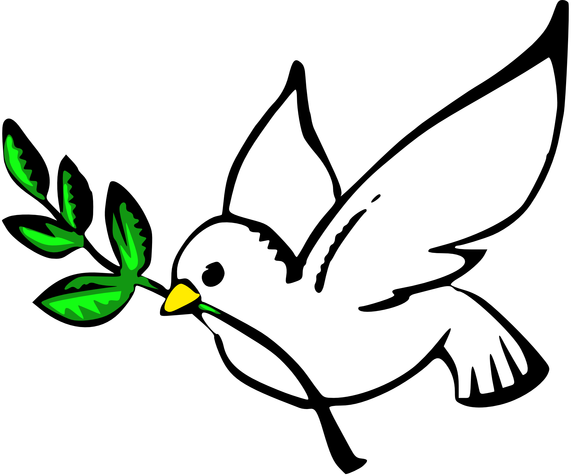 Christmas Dove Clipart.