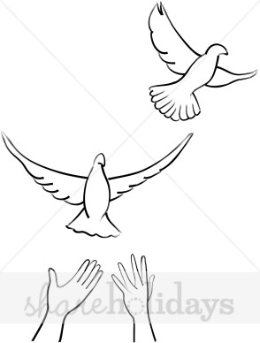 462 Doves free clipart.