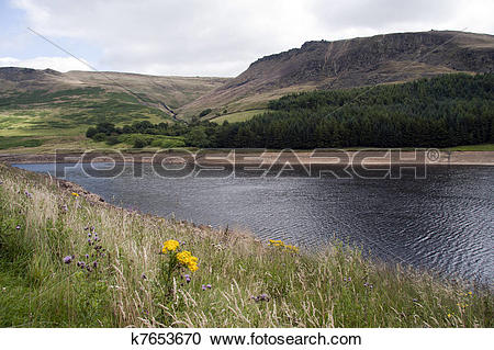 Stock Photography of Dovestones reservoir, Greenfield k7653670.