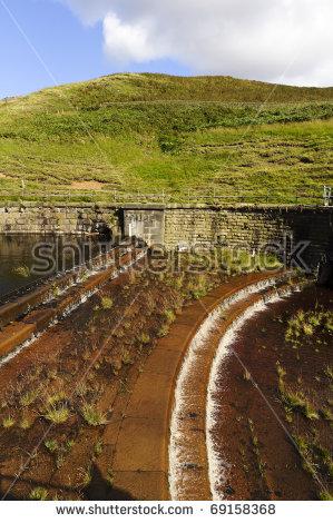 Dovestone Reservoir Peak District National Park Stock Photo.
