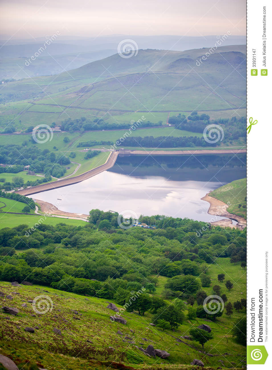 Dovestone Reservoir In Peak District National Royalty Free Stock.