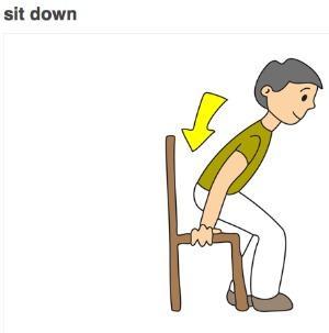 Please sit down clipart.