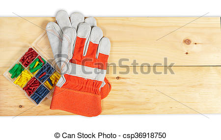 Stock Images of Dowels set wrench on wooden background.