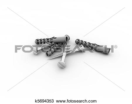 Drawing of dowels and screws k5694353.