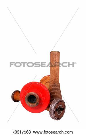 Stock Photo of wooden dowels k0317563.