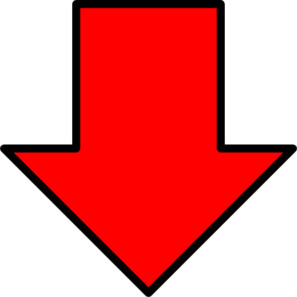 Red Down Arrow Clipart.
