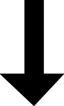 Downward Black Arrow clip art free vector.