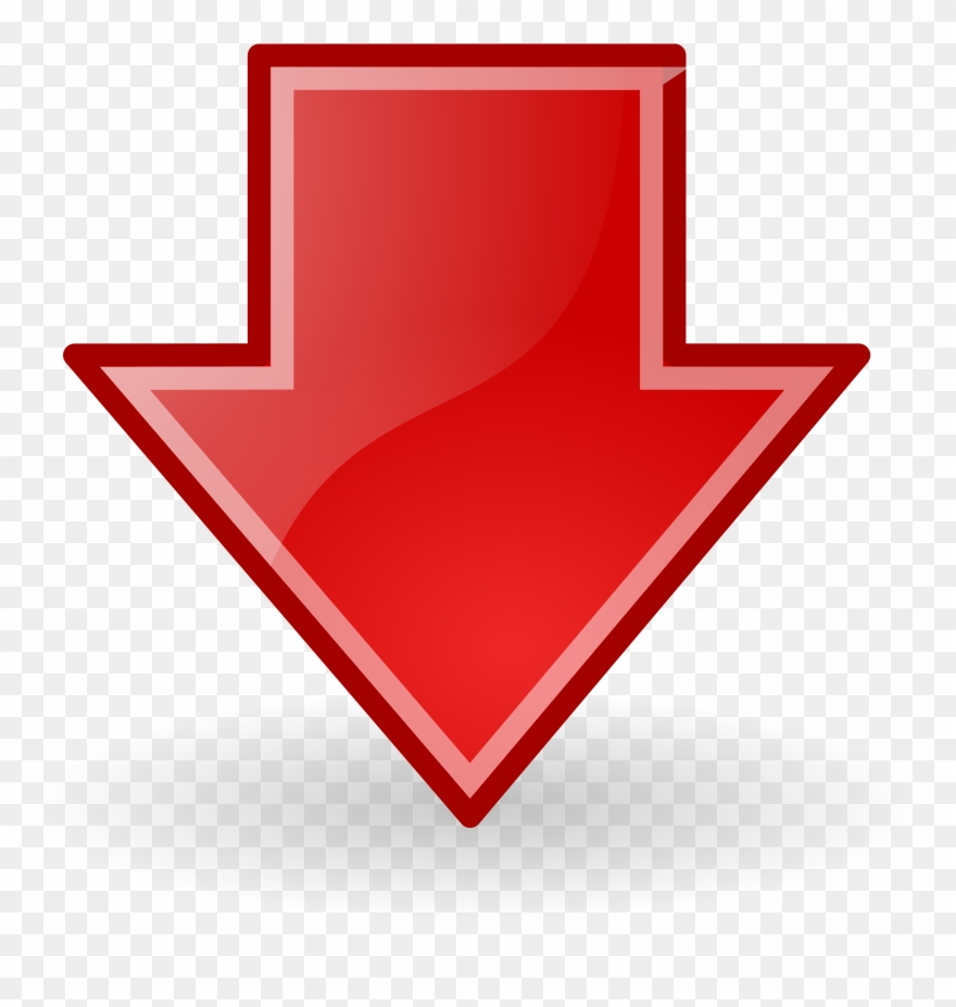 Blue Down Arrow Png Clipart (#45965).
