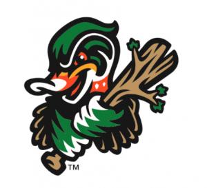Down East Wood Ducks Baseball Logo.