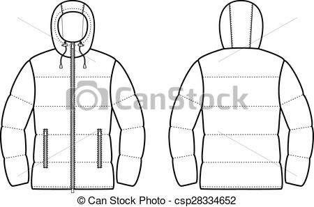 Clipart Vector of Down jacket.