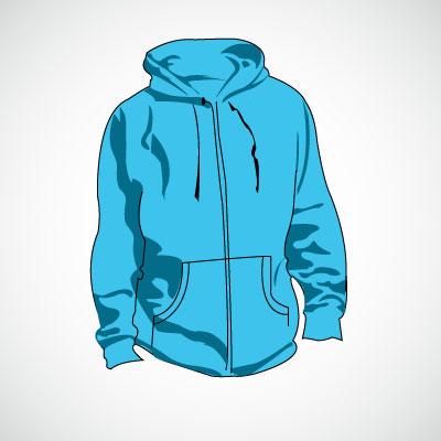 Blue jacket clipart.