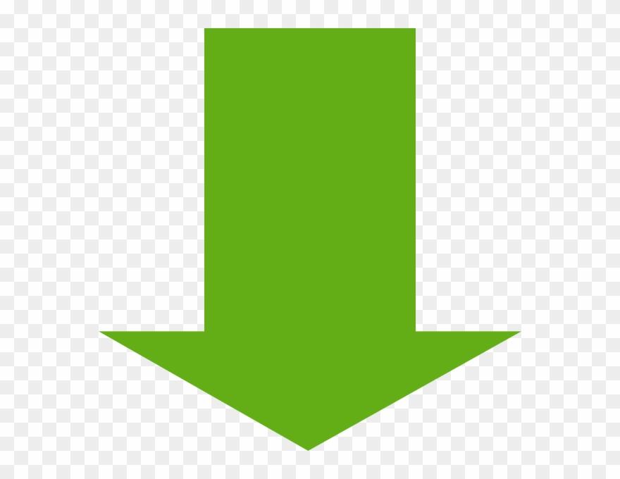 Green Arrow Down Png Clipart (#432554).