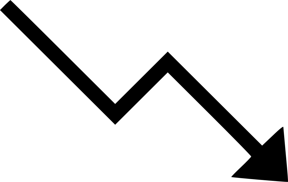 Trending Down Arrow Chart Decrease Svg Png Icon Free Download.