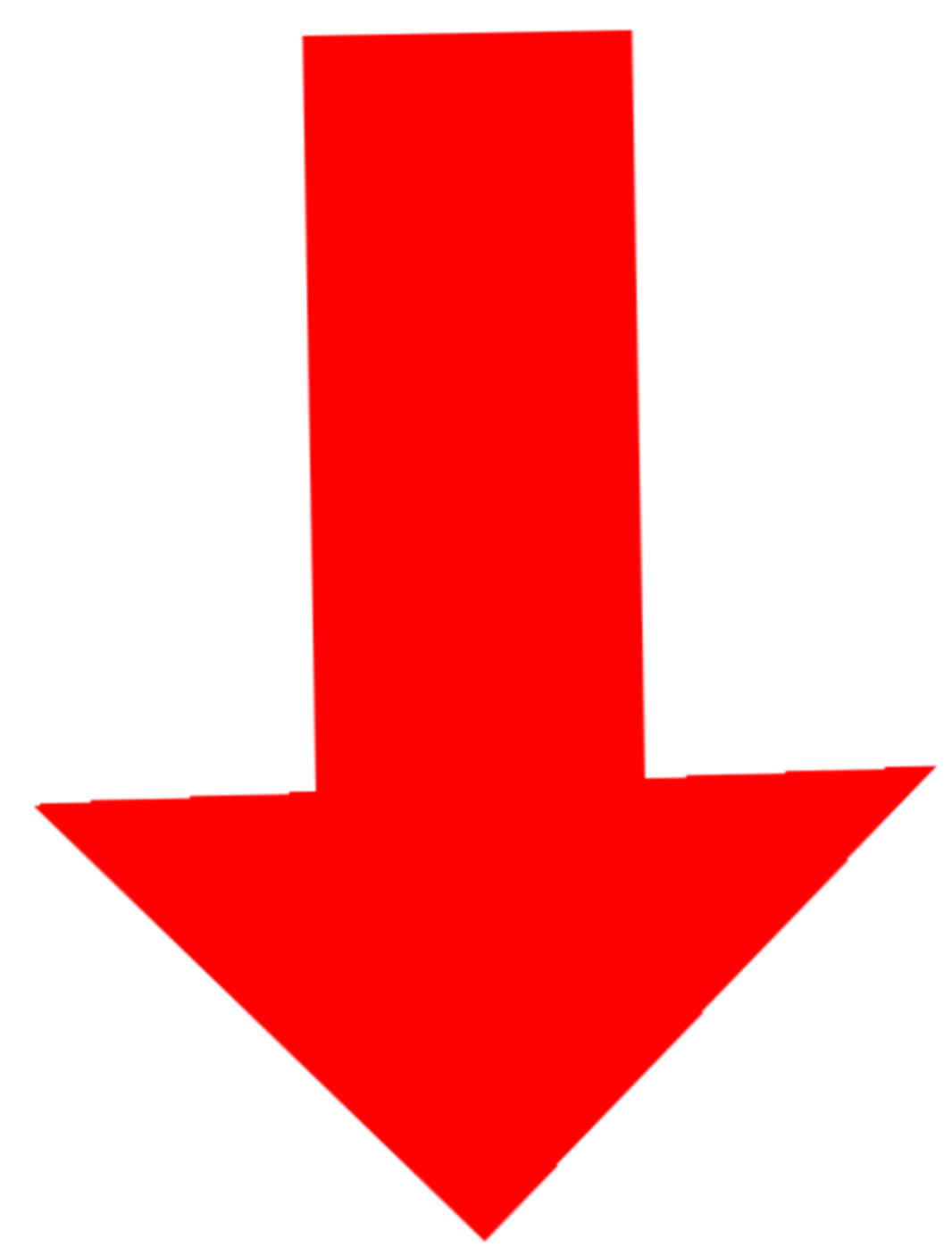 Red down arrow png #36965.