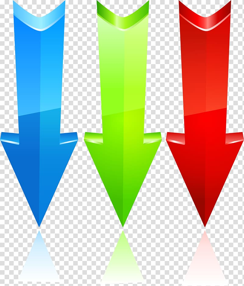 Arrow Euclidean , Straight down arrow transparent background PNG.