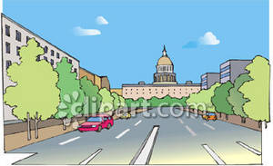 Clipart Picture of Downtown Washington, D.C..