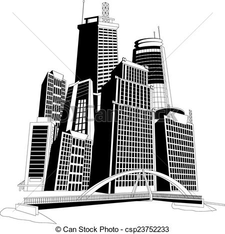 Vectors of Downtown skyline.