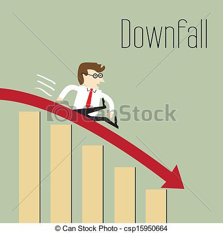 Clip Art Vector of Business decline.
