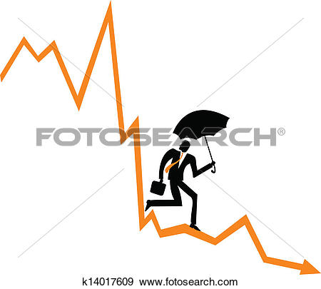 Clip Art of Financial Downfall k14017609.