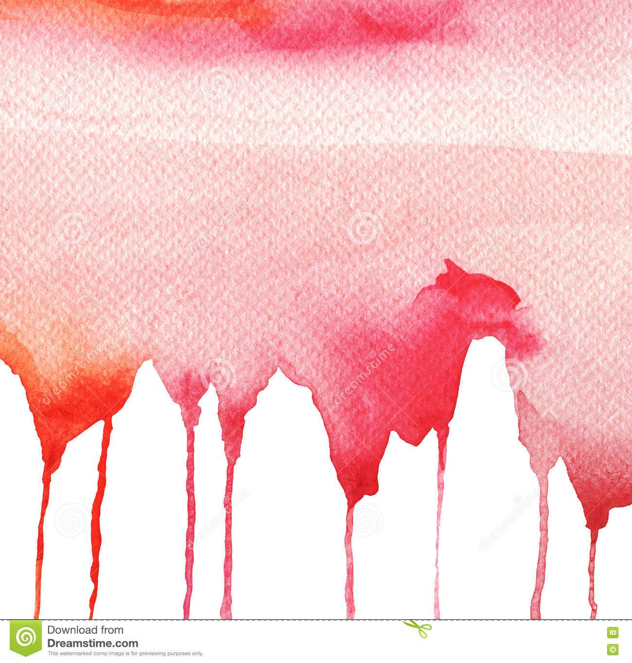 Color Paint Down Flow Stock Illustrations.