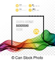 Vector Clip Art of Color paint down flow vector template isolated.