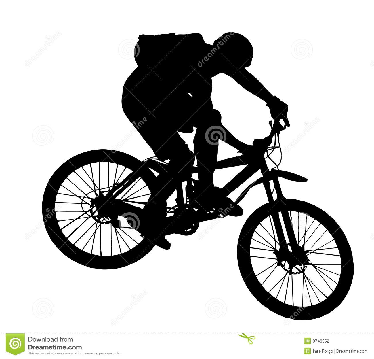 Downhill Mountain Bike Clip Art.