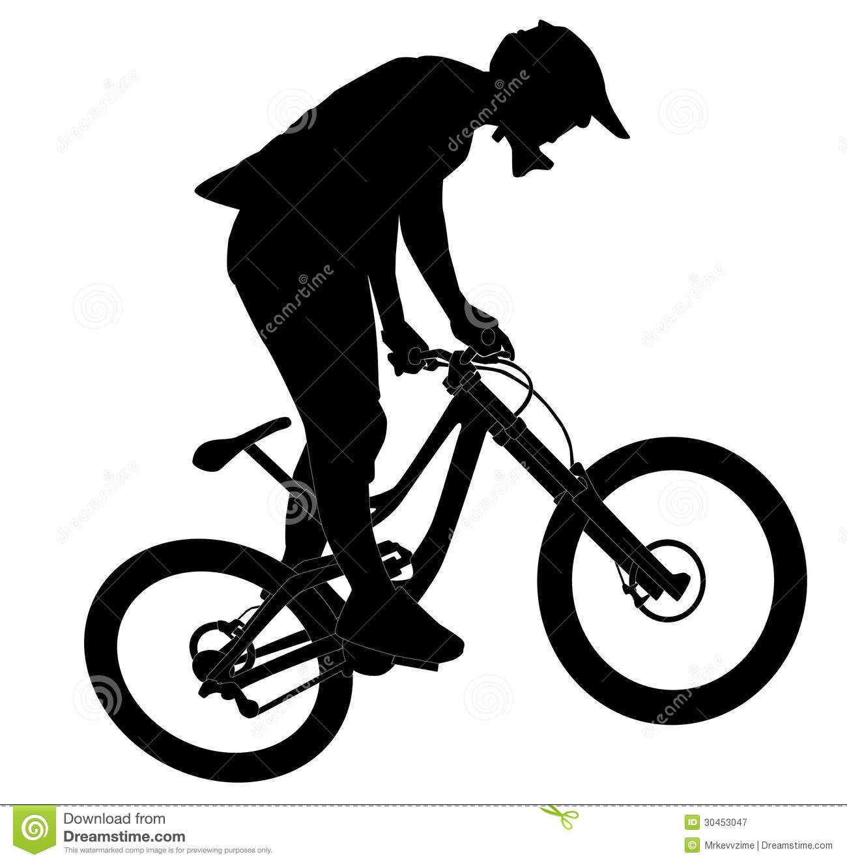 clipart mountain bike rider - photo #37