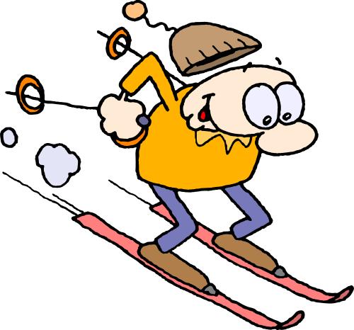 Ski lessons clipart #6