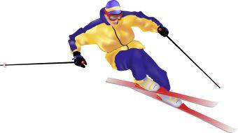 Snow Ski clip art.