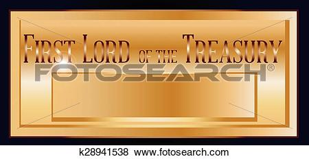 Clip Art of Ten Downing Street Letter Box Plaque k28941538.