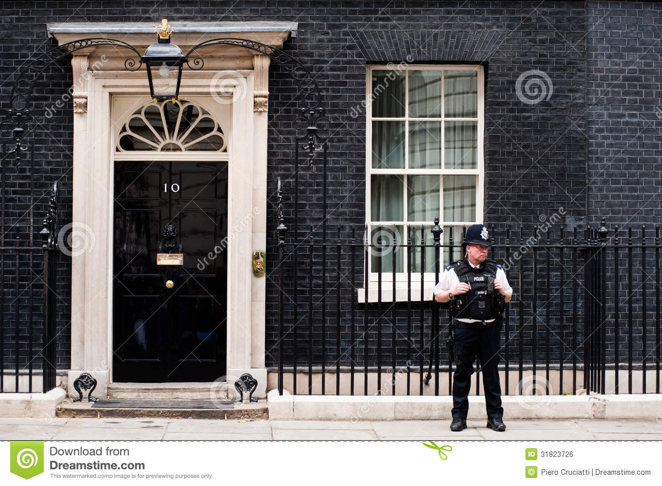 10 Downing Street In London Editorial Photo.