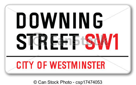 Clipart Vector of Downing Street.