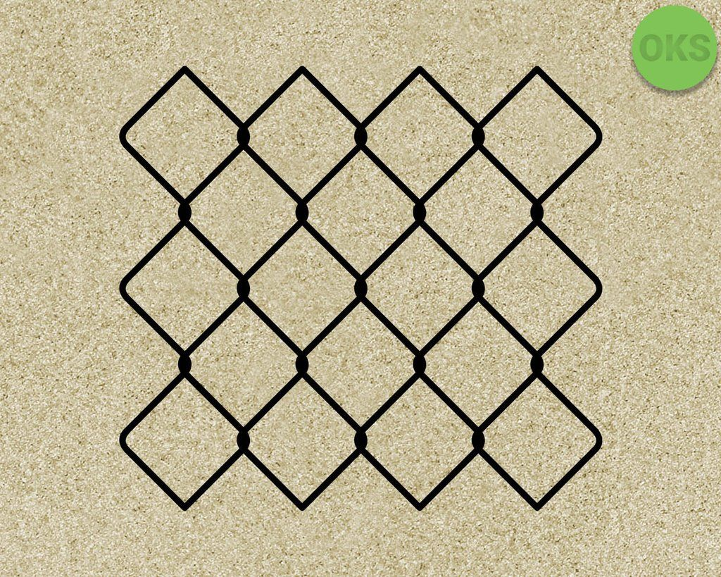 Chain Link Fence svg, dxf, vector, eps, clipart, cricut.